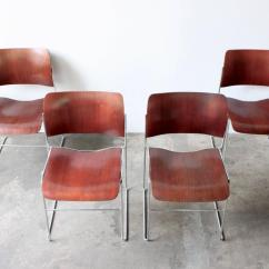 David Rowland Metal Chair Movie Chairs For Sale 40 4 Stackable At 1stdibs
