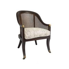 Cane Chairs For Sale Flushing Potty Chair Pair Of With Menton Leopard Fabric At