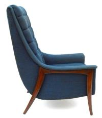 High Back Midcentury Lounge Chair by Kroehler at 1stdibs