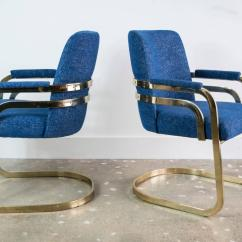 Chromcraft Chairs Vintage Bedroom Chair Size Set Of Four Sculptural Brass Dining At
