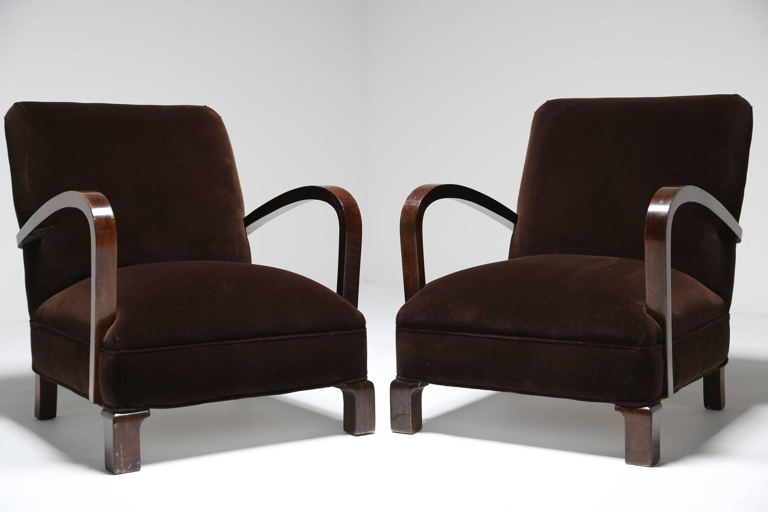 french club chairs for sale michael guineys chair covers art deco pair at 1stdibs