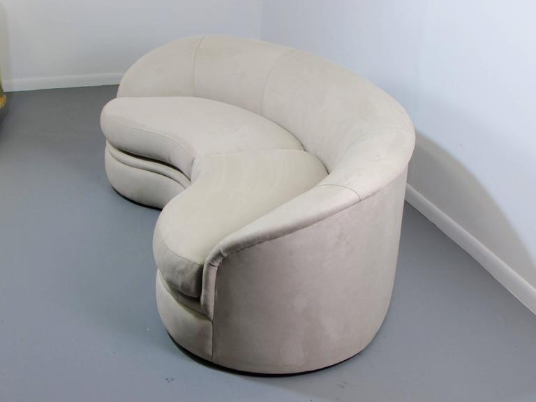 small loveseat sectional sofa most comfortable reclining biomorphic kidney bean shaped by vladimir kagan for ...