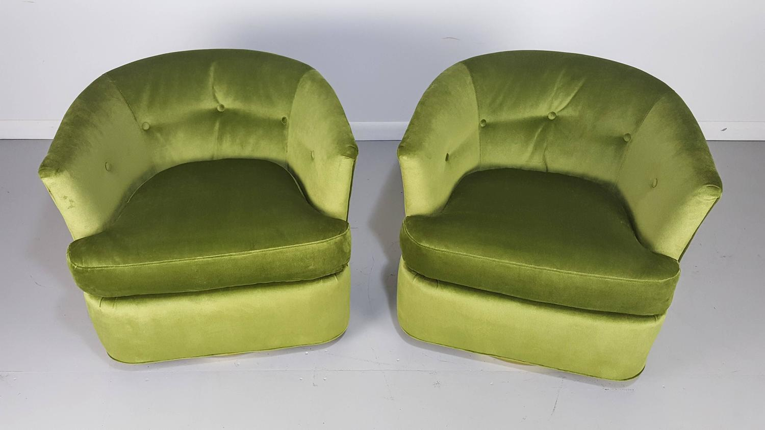 green velvet swivel chair steel in nepal lounge chairs with polished bronze