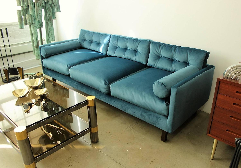chelsea sofa st albans corner with movable chaise harvey probber tuxedo in peacock velvet down