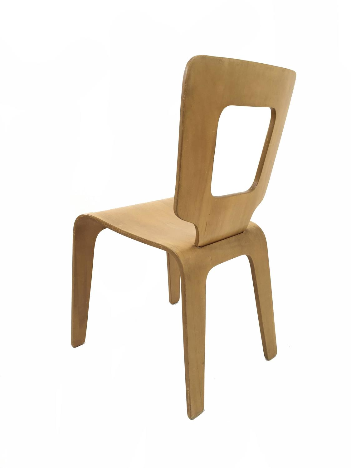 Bent Plywood Chair Four Thaden Jordan Bent Plywood Dining Chairs For Sale At