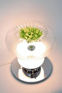 Italian Mid-Century Modern Murano Green Stalagmite Glass ...