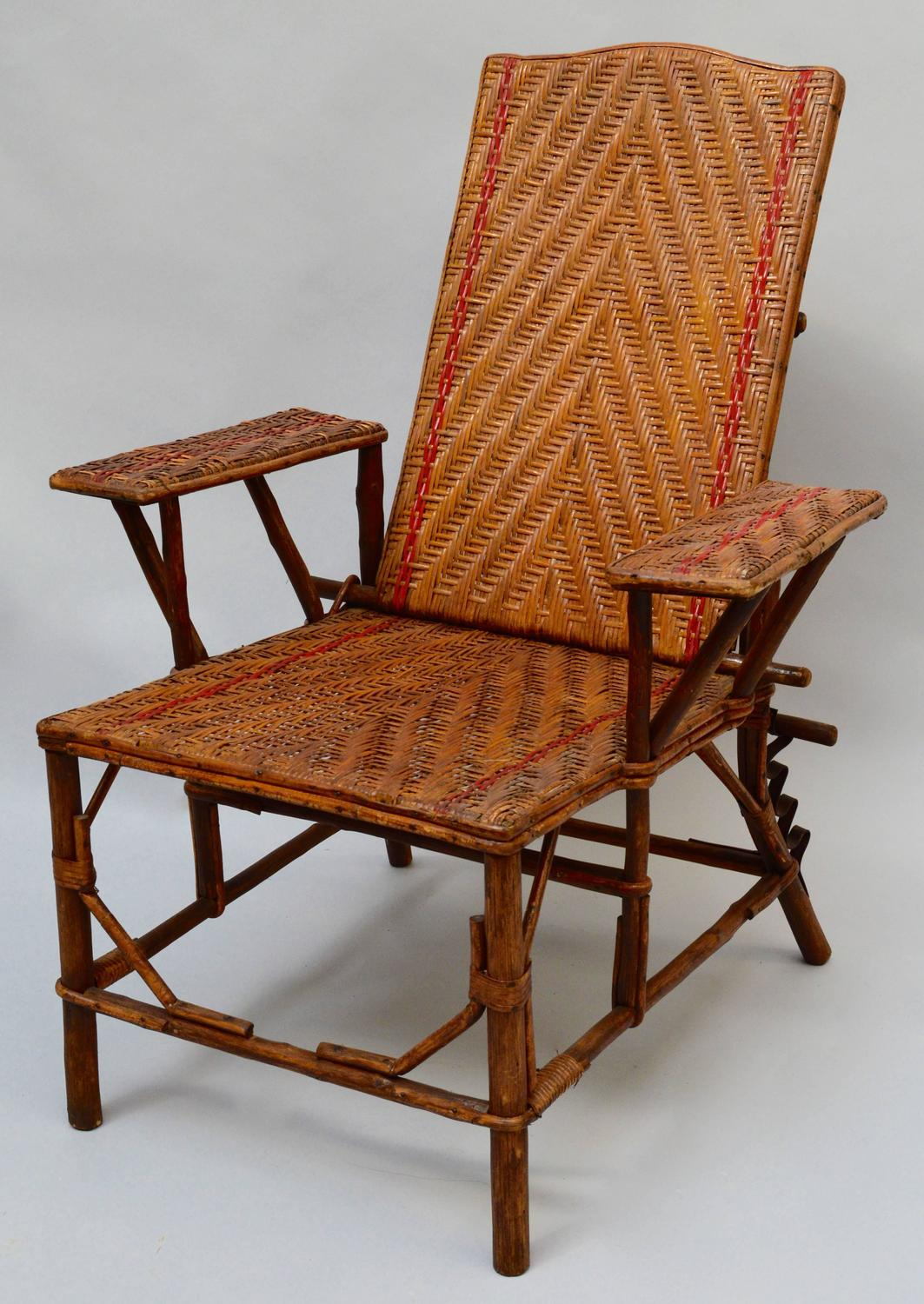 woven lounge chair zebra print office chairs french rattan for sale at 1stdibs
