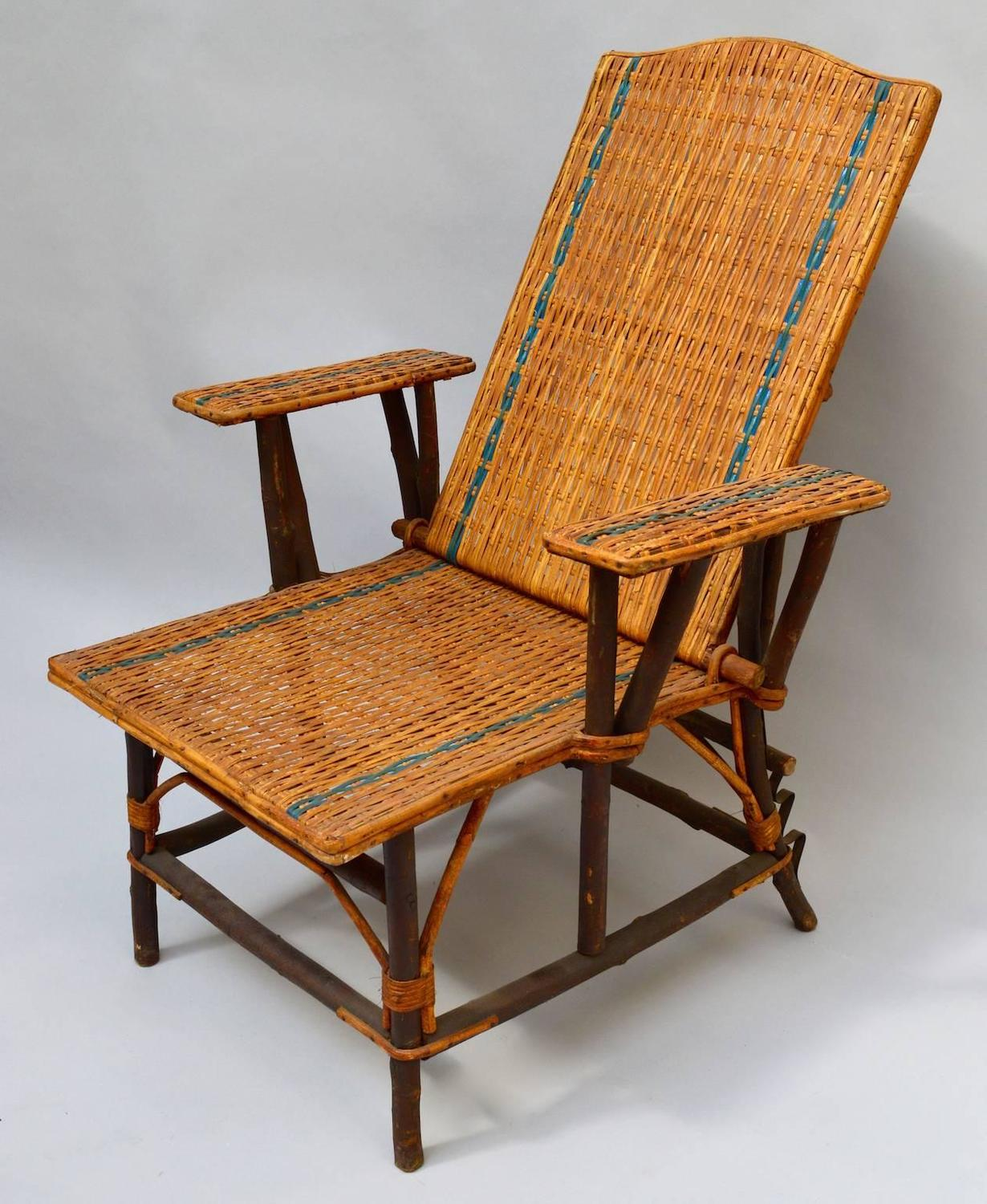 woven lounge chair walmart outdoor chairs french rattan for sale at 1stdibs