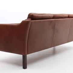 Chestnut Colored Leather Sofa Palliser Styles Brown Danish Mid Century Modern