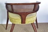 Pair of Midcentury Curved Back Chairs For Sale at 1stdibs