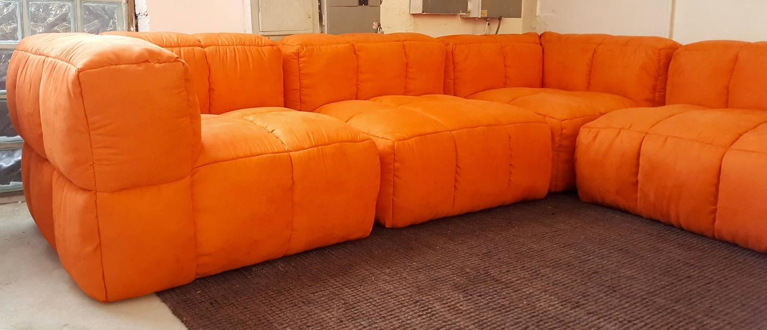 sectional sofas in las vegas nv scs fabric monumental 1970s tufted modular sofa by marge carson for ...