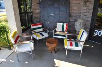 Mid-Century Chairs with Stainless Frames, Wood Arms and ...