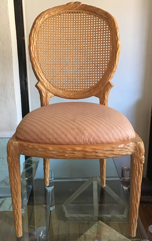 oval back dining room chairs hans wegner chair mid-century modern faux bois by weiman at 1stdibs