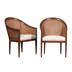 Where Can I Buy Cane For Chairs Folding Chair Umbrella Elegant Restored Pair Of Walnut By Kipp Stewart Directional Sale