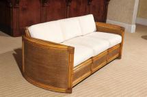Exceptional Restored Vintage Rattan Sofa 1stdibs