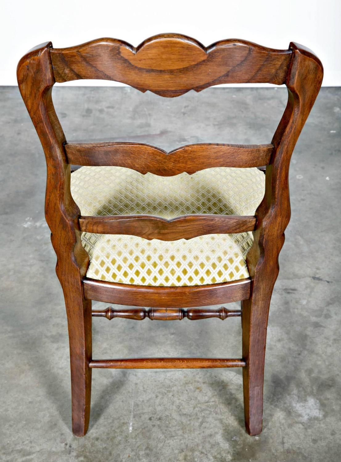 country french chairs upholstered where to buy set of six ladder back with
