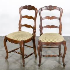 Country French Chairs Upholstered Chair Cover Hire Dunstable Set Of Six Ladder Back With Seats At 1stdibs