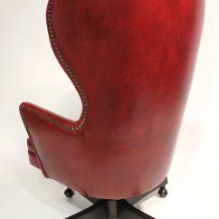 Wingback Office Desk Chair Steelcase Accessories Leather Rolling By Schafer Bros At 1stdibs