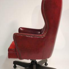 Wingback Office Desk Chair Contemporary Club Chairs Leather Rolling By Schafer Bros At 1stdibs
