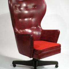 Wingback Office Desk Chair Anthro Ergonomic Verte Leather Rolling By Schafer Bros At 1stdibs