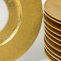 Set of Eleven Heinrich and Co. Selb Bavaria Gold Rimmed ...