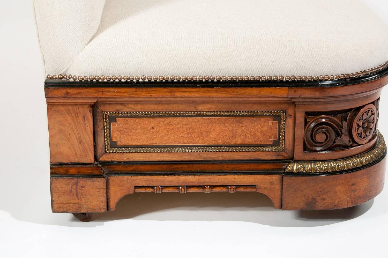 century furniture sofa quality grey fabric dye for 19th walnut with ormolu at 1stdibs