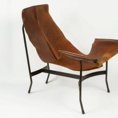 Leather Sling Chairs Jobek Chair Stand By William Katavolos For