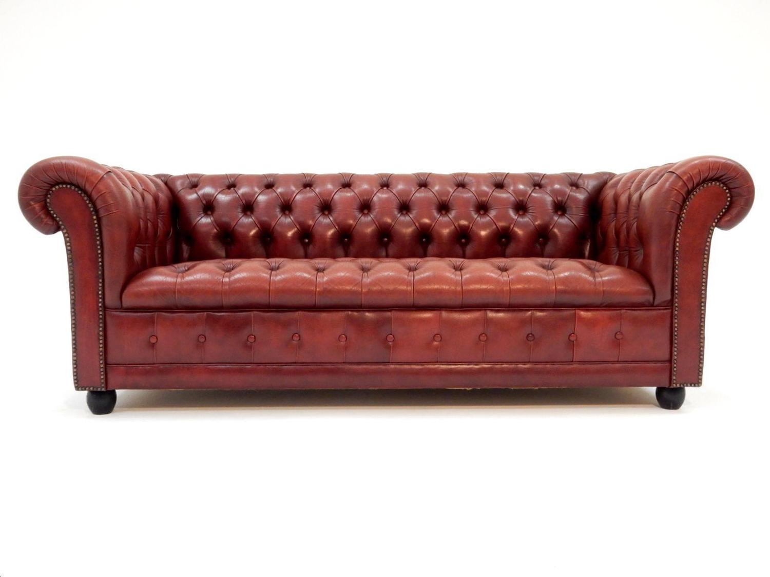 oxblood red chesterfield sofa dfs leather sofas reviews fabulous tufted british