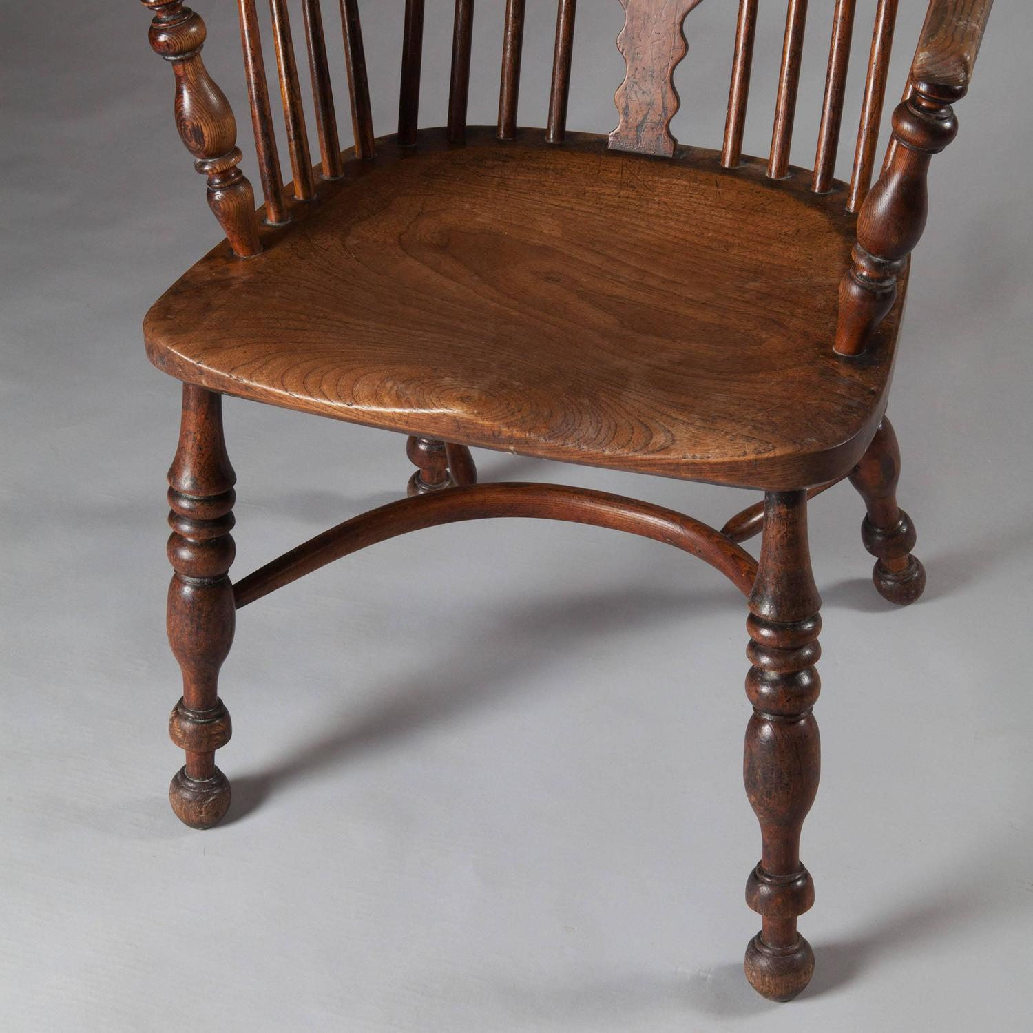 unfinished windsor chairs wheelchair toilet 19th century yew wood chair for sale at 1stdibs