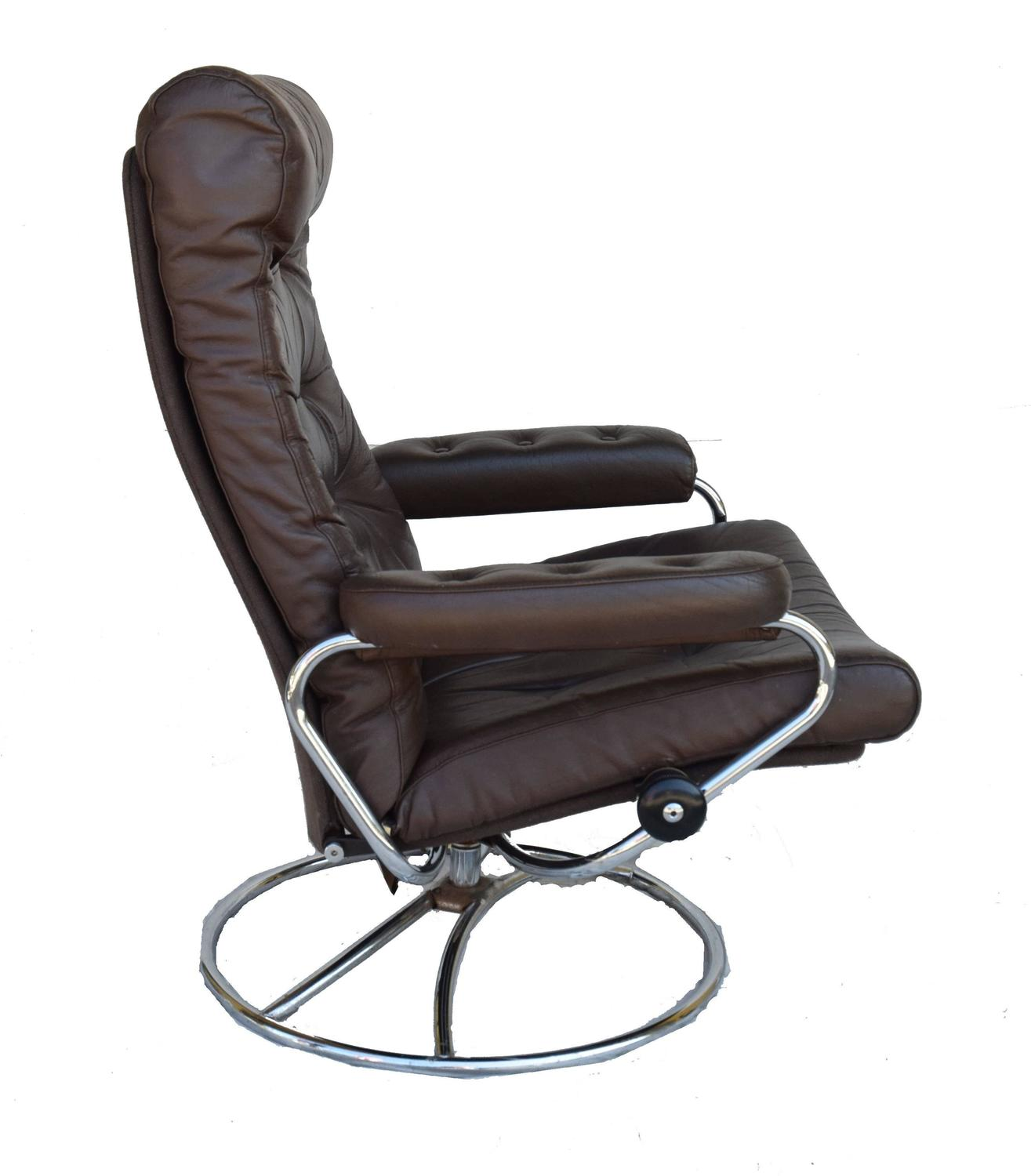 stressless chair sale ikea wicker ekornes and ottoman 1972 for at 1stdibs