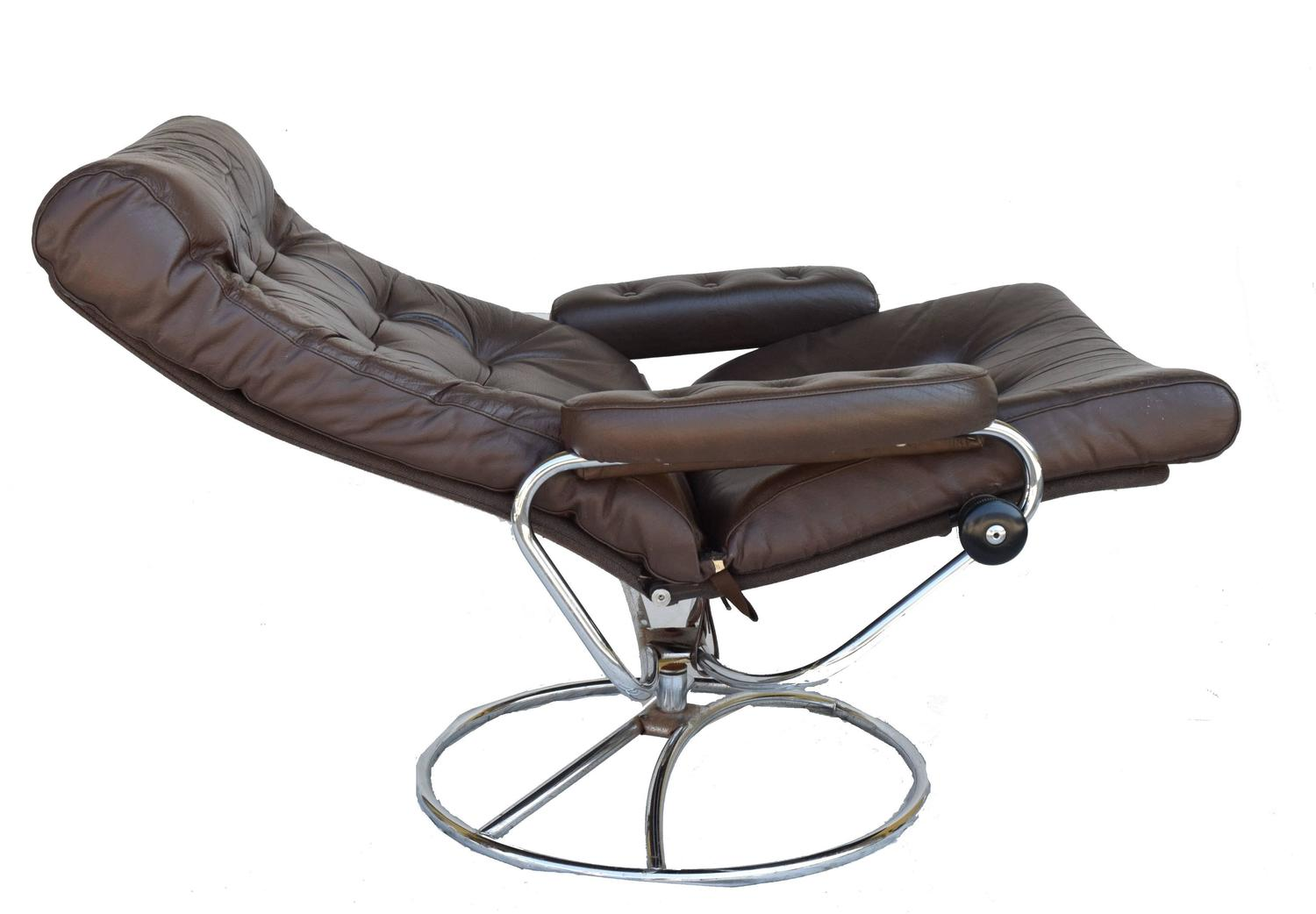 stressless chair sale office seat covers staples ekornes and ottoman 1972 for at 1stdibs