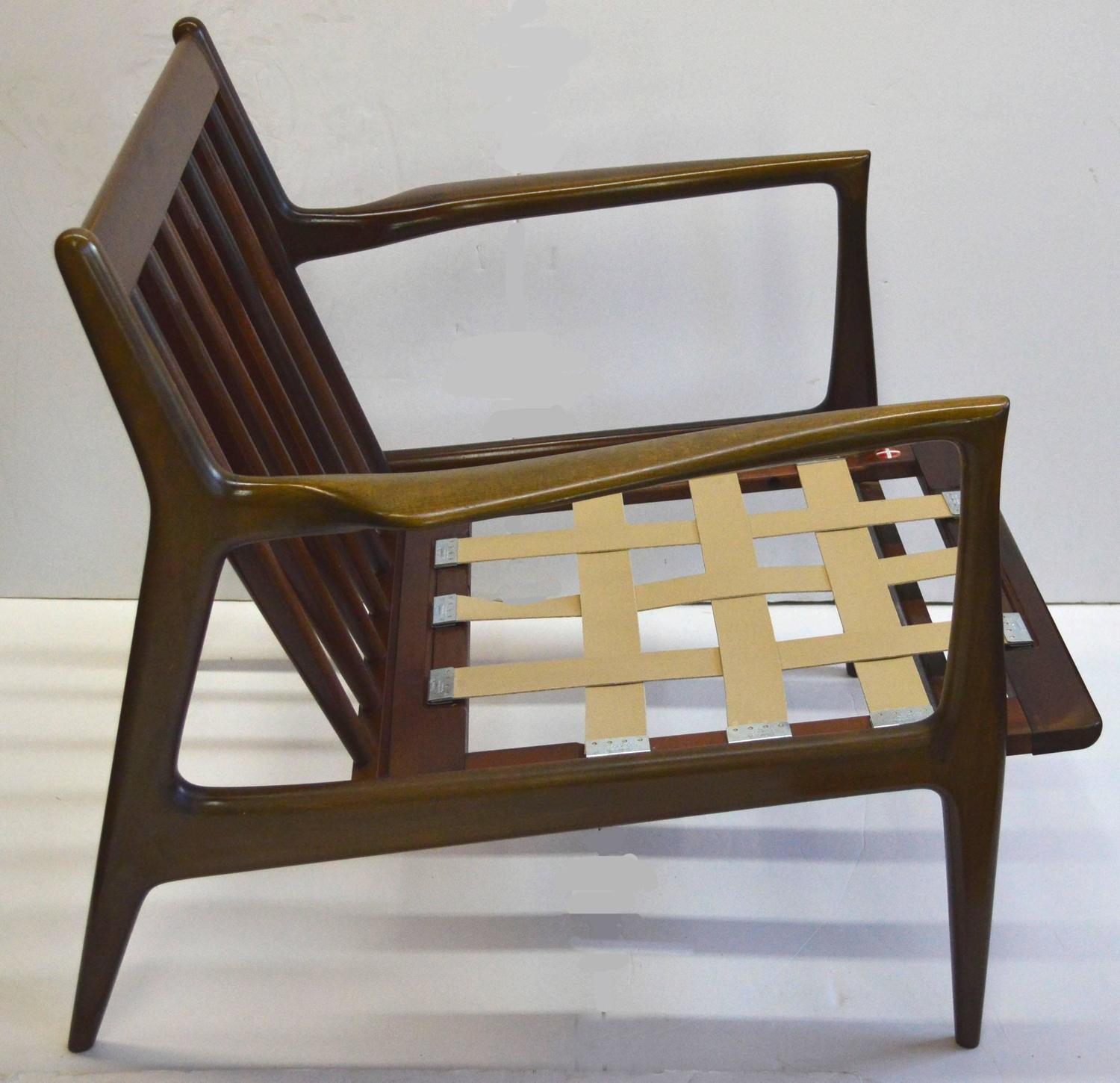 Selig Chair Mid Century Ib Kofod Larsen For Selig Walnut Lounge Chair