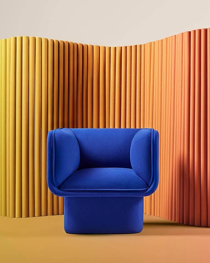 Block Blue Armchair Studio Mut For Sale At 1stdibs