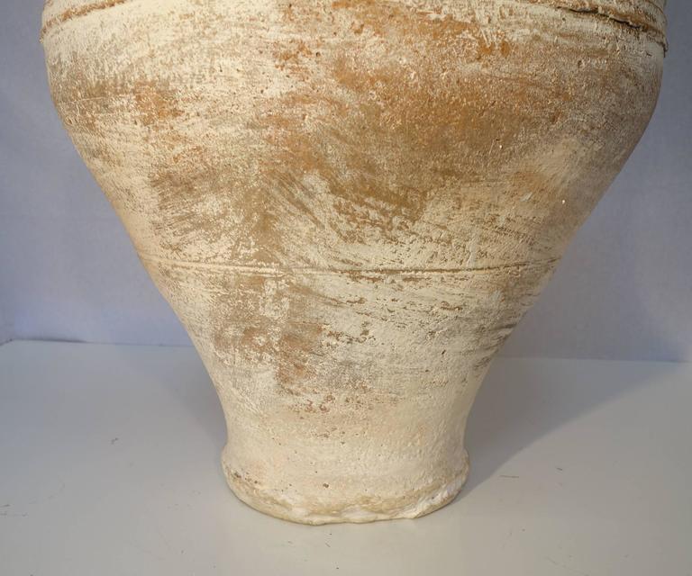 Mediterranean Antique White Pottery Amphora At 1stdibs