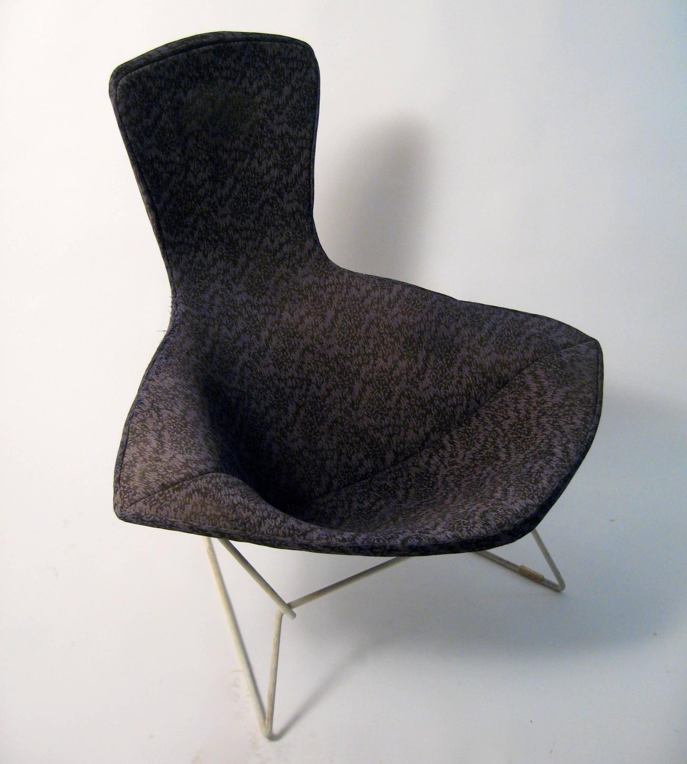 bertoia style chair white back harry bird for sale at 1stdibs
