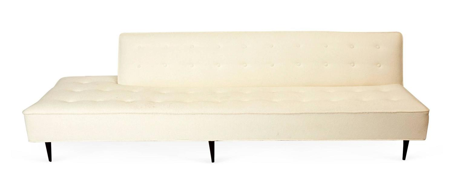 right angled sectional sofa brown fabric bed mid century modern sofa, attributed to harvey ...