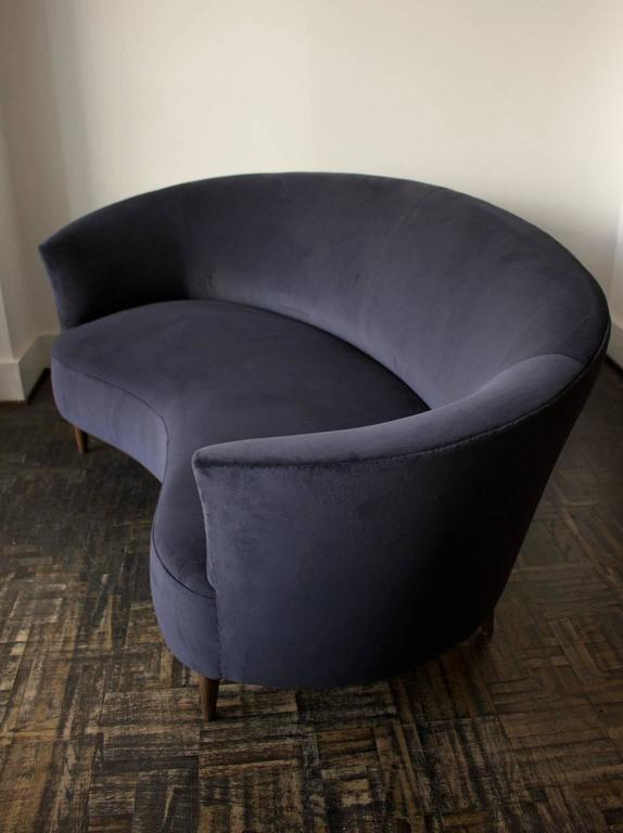 small grey sofa best modern sectional apartment therapy curved or loveseat, italy, 1950s. at 1stdibs