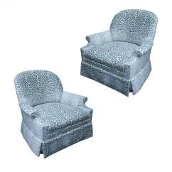 Accent Chairs For Sale Ivory Chair Covers Canada Pair Of Kravet Upholstered Lounge Swivel