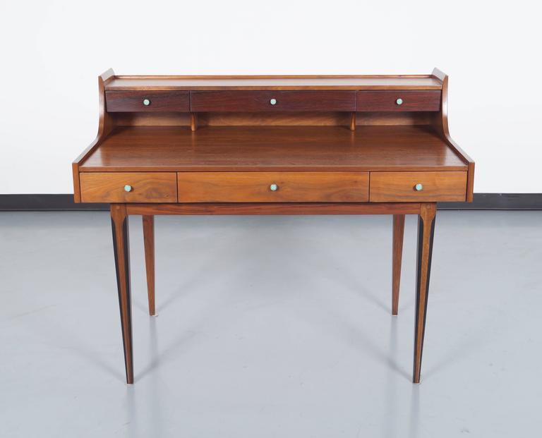 vintage walnut desk by
