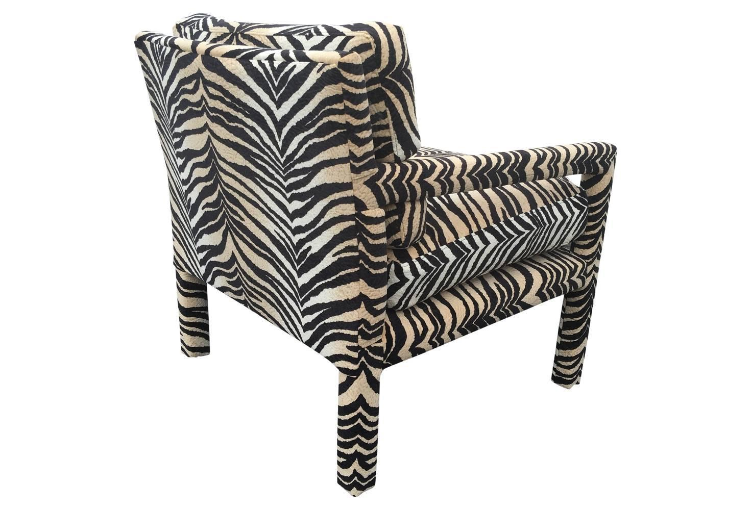 tiger print chair west elm everett review sexy striped parsons at 1stdibs