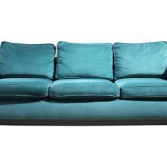 Emerald Green Velvet Chair Caps For Legs 1970s Plinth Base Sofa At 1stdibs
