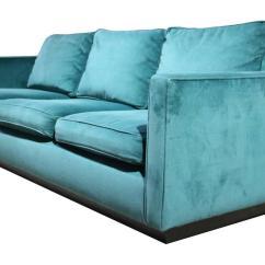 Emerald Green Velvet Sofa Bed Kenworth Studio Sleeper 1970s Plinth Base At 1stdibs