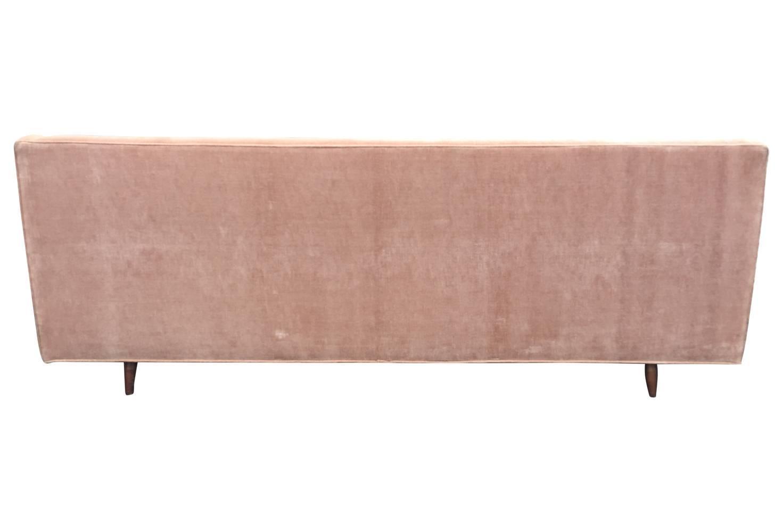 pink tufted sofa for sale dream playground blush velvet mid century modern with back