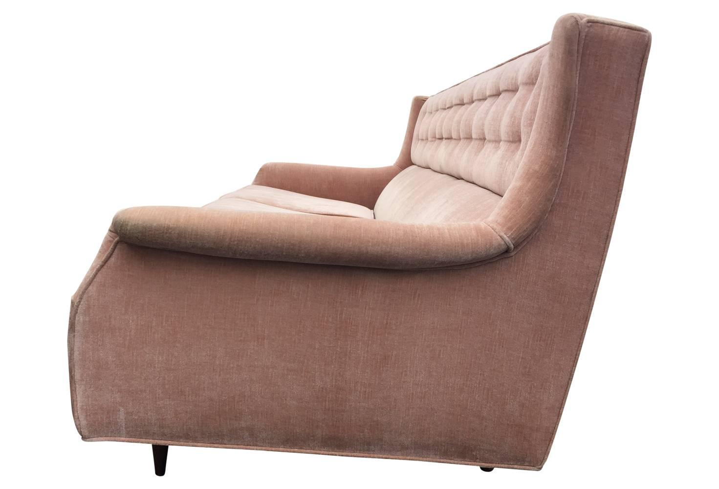 pink tufted sofa for sale macys leather sofas and loveseats blush velvet mid century modern with back
