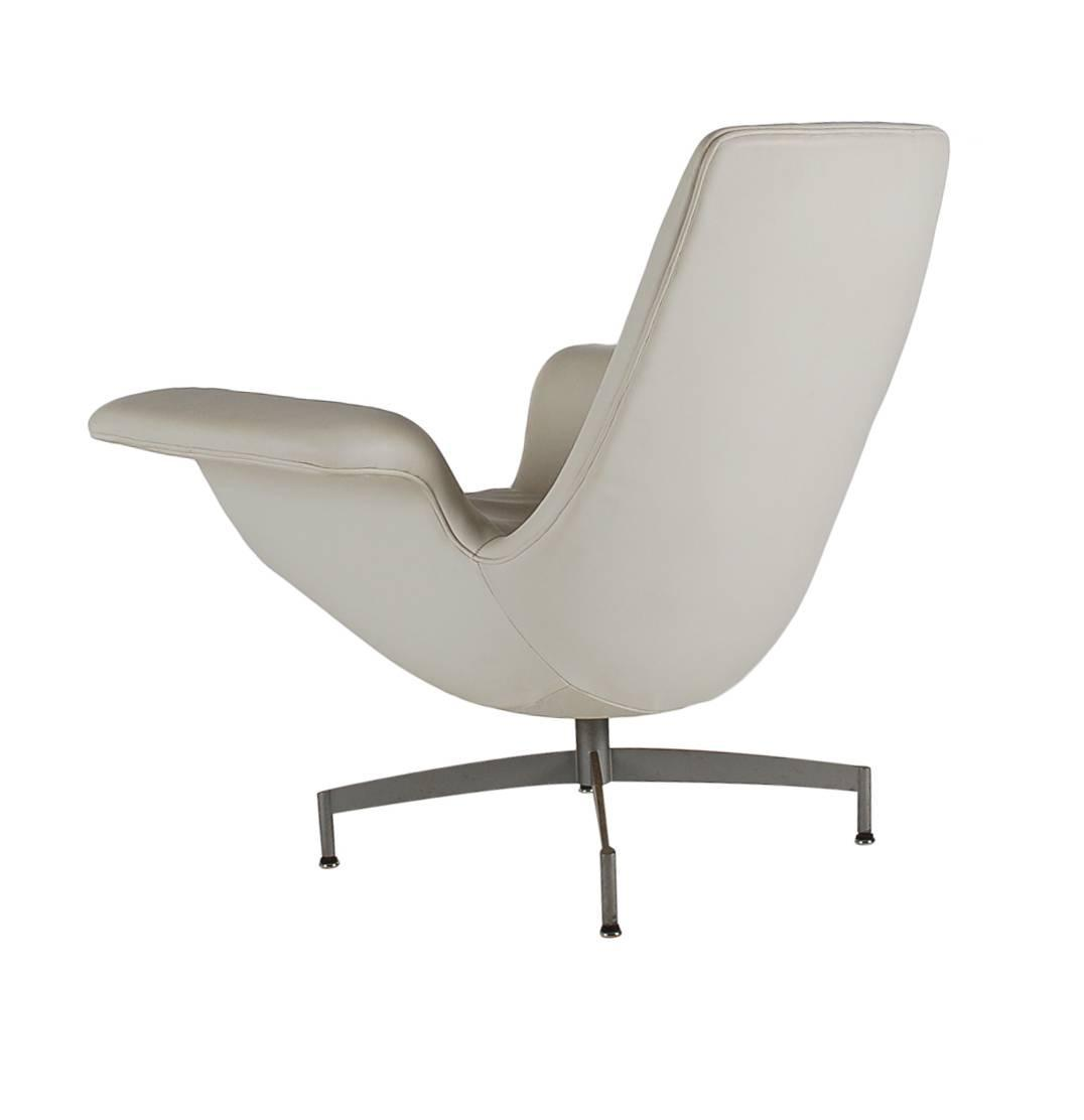 modern leather swivel lounge chair nice sitting room chairs mid century dialogue hbf in