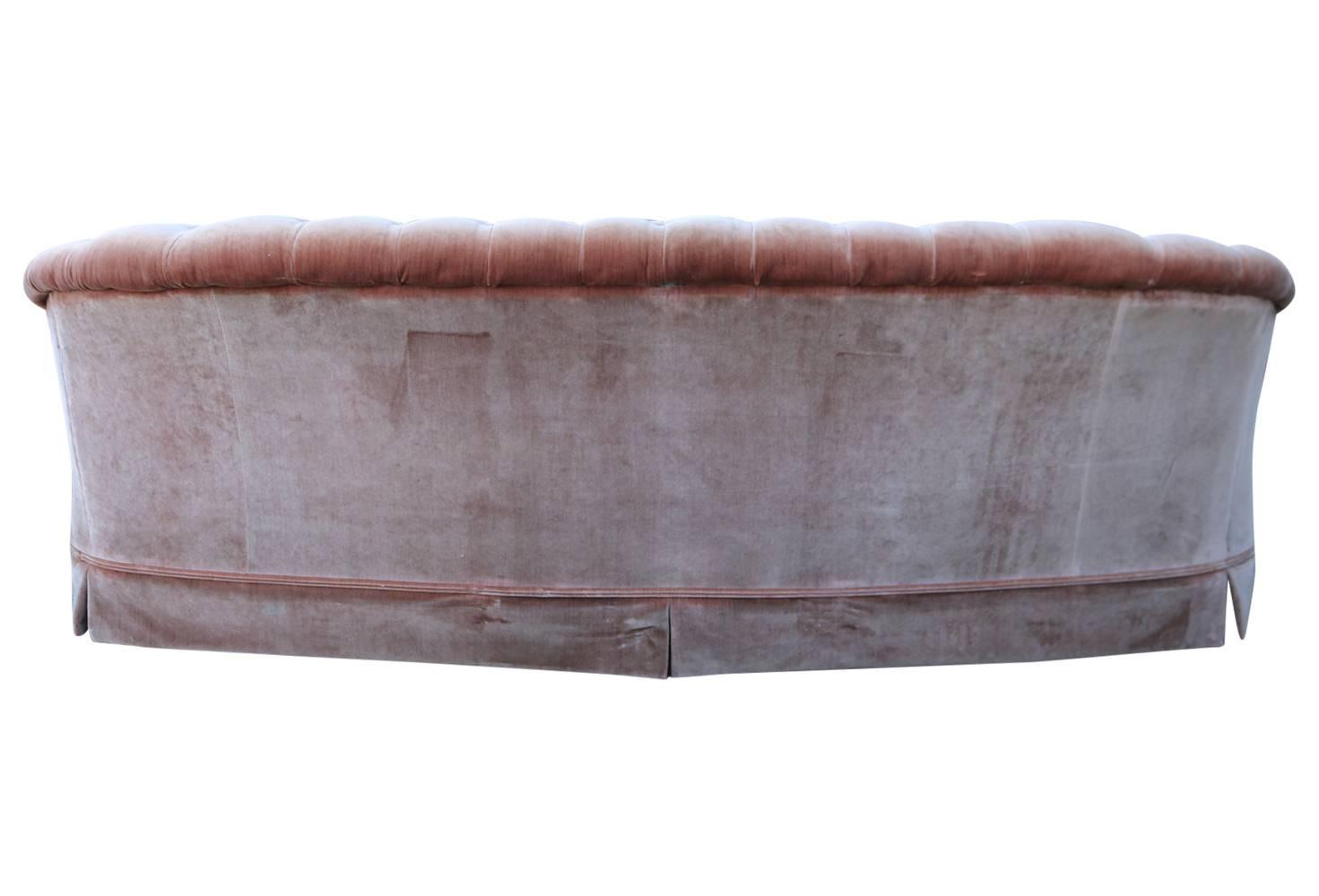 pink tufted sofa for sale indian wooden uk 1960s velvet chesterfield at 1stdibs