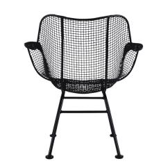 Mid Century Modern Wire Chair Cherner Table And Chairs Pair Of Sculptural Patio Lounge