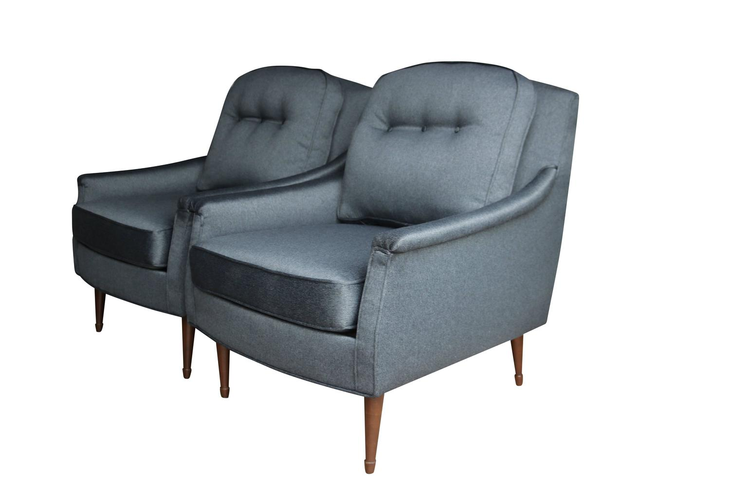 grey modern armchairs posture for chair pair of mid century at 1stdibs