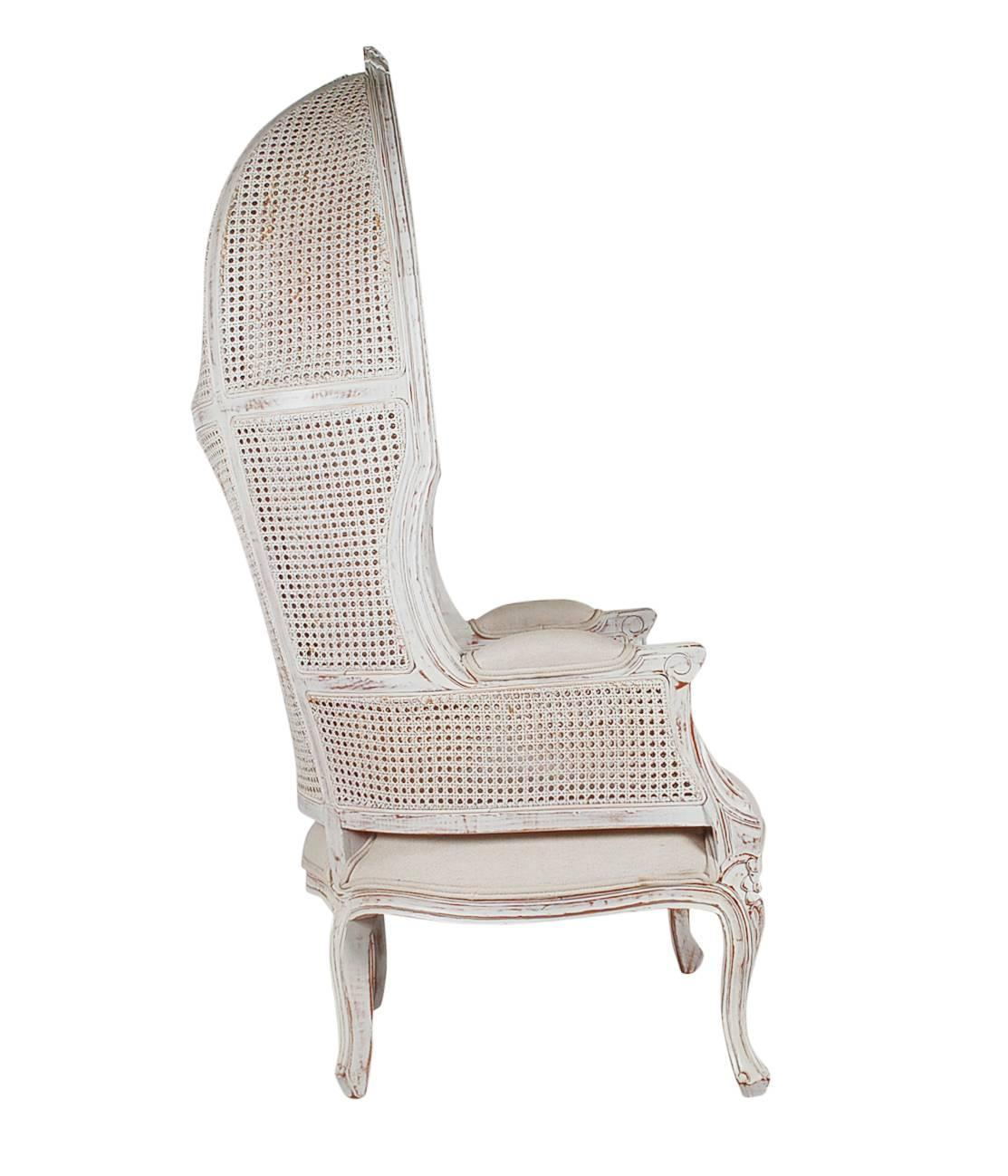 french canopy chair prima pappa newborn high style cane wingback porters for sale