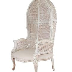 French Canopy Chair With Long Back Style Cane Wingback Porters For Sale